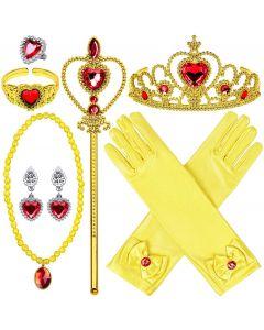 """Набір аксесуарів """"Princess Dress Up Accessories"""" (9шт) жовтий, Disney GZTZ-01"""