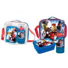 "Практичний набір для хлопчика (сумка, бідончик, ланчбокс) AVENGERS"", 2100003136"