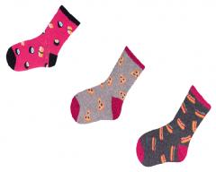 """Набір шкарпеток для дівчинки """"Їжа"""" (3 пари), YOclub SK-24"""