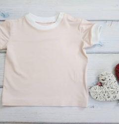 Трикотажна футболка для дівчинки, М488445 Mokkibym