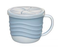 """Чашка для пиття і снеків 2 в 1 """"Зелена серія"""", 250 мл., (блакитна), Nip 37069"""