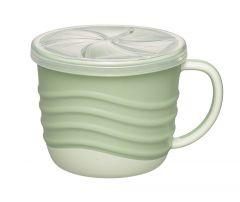 """Чашка для пиття і снеків 2 в 1 """"Зелена серія"""", 250 мл., (зелена), Nip 37069"""