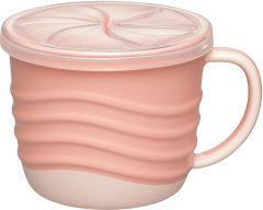 """Чашка для пиття і снеків 2 в 1 """"Зелена серія"""", 250 мл., (рожева),Nip 37069"""