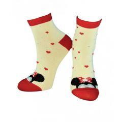"""Трикотажні шкарпетки """"Minnie Mouse"""" для дитини (молочні), Duna, 9068"""