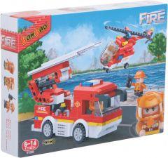 "Конструктор ""Пожежники/Пожежне авто і гелікоптер"", Banbao 7126"