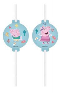 Паперові соломинки PEPA PIG / Свинка Пеппа (4 шт), 91881