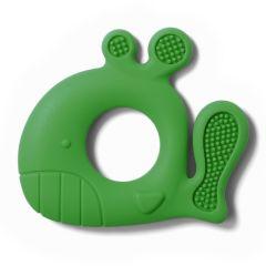 """Прорізувач для зубів силіконовий """"Кит"""" (зелений) BabyOno 935/02"""