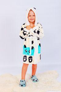 """Махровий халат для дівчинки """"Панда"""", 9762-035-22-v1"""