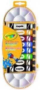 Фарби темпера в тюбиках з пензликом і палітрою (8 шт), Crayola 7407