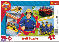 "Пазли рамкові ""День пожежника Сема"", Trefl 31351"