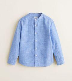Рубашка с воротником мао для мальчика