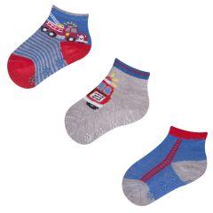 Набір шкарпеток для хлопчика (3 пари) -пожежна, YOclub SKC/3PAK/SML