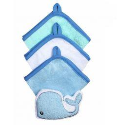 Комплект з 3-х рукавичок для купання + губка (кит), 149 BabyOno
