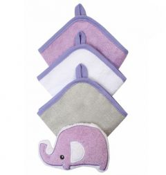 Комплект з 3-х рукавичок для купання + губка (слоник), 149 BabyOno