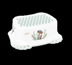 """Підставка для ніг антиковзаюча """"Дикий захід"""" (Лисичка) біло-зелена, DZ-006-103-LISEK-Z Tega baby"""