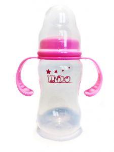 Бутылочка объемом 210 мл с силиконовой соской, розовая Lindo А 18