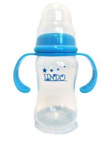 Бутылочка объемом 210 мл с силиконовой соской, голубая  Lindo А 18