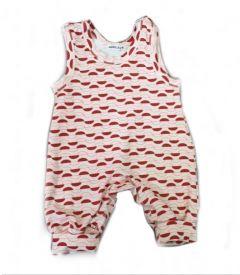 Трикотажний комбінезон-повзунки для дитини (червоно-білий), 1232 Mokkibym