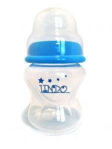 Бутилочка об'ємом 180 мл з силіконовою соскою,блакитна Lindo А 20