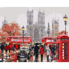 """Картина за номерами """"Ранок в Лондон"""" 40*50, Ідейка КНО2149"""