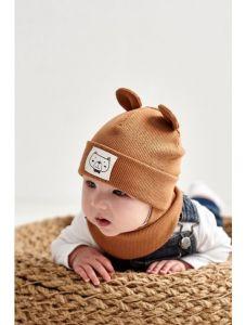 """Набір """"Баязид"""" для хлопчика, хакі (шапочка і хомут), 21.02.006"""