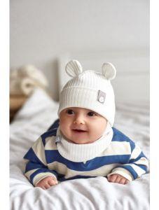 "Набір ""Мустафа"" для дитини, молочний (шапочка і хомут), 21.02.005"