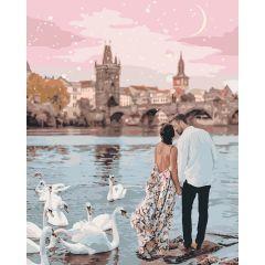 "Картина за номерами ""Прогулянка Прагою"" 40*50, Ідейка КНО4652"