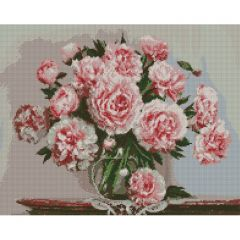 """Набір з алмазною мозаїкою """"Найулюбленіші квіти"""" 40*50, Ідейка АМ6115"""