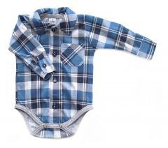 Котонова боді-сорочка для хлопчика, Bs 190102 BODIK