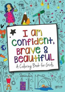 "Розмальовка для дівчаток ""I am confident, brave & beautiful"", Hopscotch Girls"