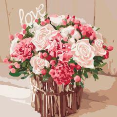 """Картина за номерами """"Троянди кохання"""" 40*40, Ідейка КНО2074"""