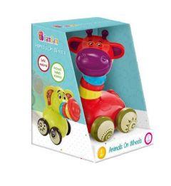 Іграшка брязкальце на коліщатках Жирафка, BamBam, 9941