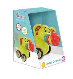 Іграшка брязкальце на коліщатках Слоник, BamBam, 9942