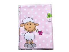 """Фланелева пелюшка-покривало """"овечка""""- рожева, BODIK"""