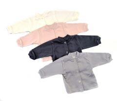 Рубашка с длинным рукавом для девочки (светло-серая), 1020