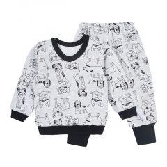 Трикотажний комплект для хлопчика (сірий), КЗФТ118