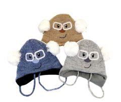 Тепла шапка для дитини (сірий меланж), Мамина мода 0051