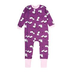 Трикотажный человечек для девочки (фиолетовый), 8ФТ050