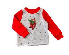 Трикотажна кофта для дитини (сіра з червоним), Robinzone КФ-561
