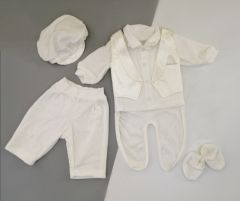 Праздничный велюровый комплект для мальчика, ЛяЛя 2ТК026В