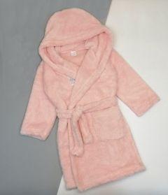Плюшевий халат з капюшоном для дитини (світло-рожевий), Lotex 286/21