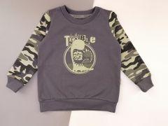 Трикотажный свитшот для мальчика (темно-серый),  Robinzone КФ-616
