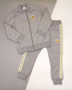Трикотажний костюм для дівчинки (сірий меланж) КС-36