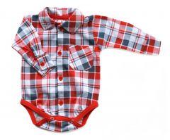 Котоновая боди-рубашка для мальчика, Bs 190104 BODIK