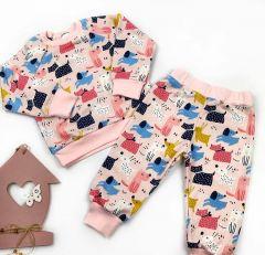 Трикотажний костюм для дівчинки (DOGS), Coolton