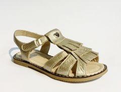 Босоніжки для дівчинки з натуральної шкіри (золоті), Miracle me 2419-016х