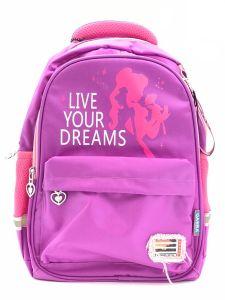 """Рюкзак для дівчинки """"Live your dreams"""" (фіолетовий), 8513"""