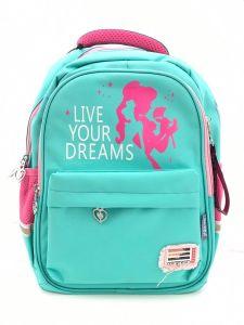 """Рюкзак для дівчинки """"Live your dreams"""" (бірюзовий), 8513"""