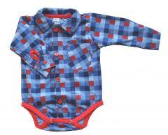 Котонова боді-сорочка для хлопчика, Bs 190103 BODIK