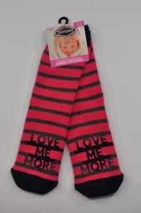 """Теплі шкарпетки для дівчинки """"Love"""" (малинові), Pompea."""